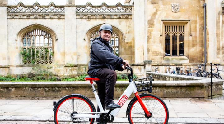John Bird on e-bike