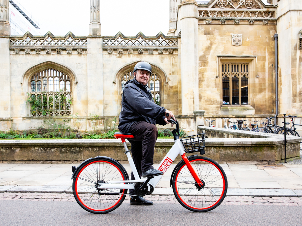 John Bird on e-bike